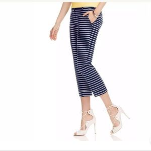 NY & CO 7TH AVENUE CROP PANT STRIPED NWT!